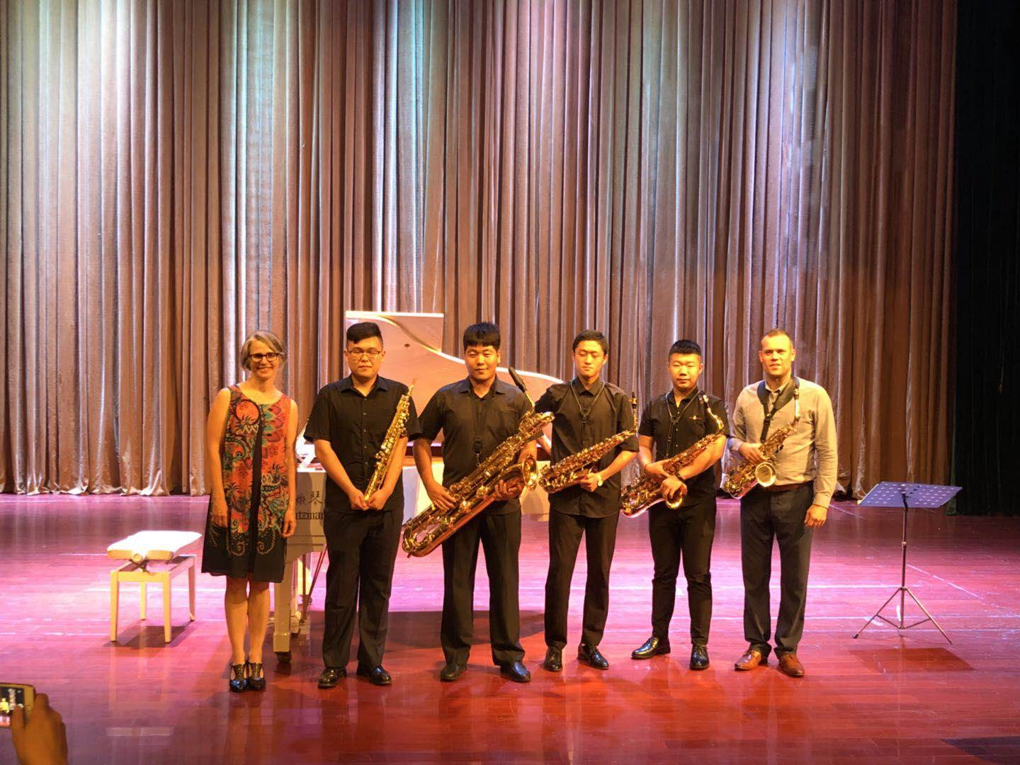 Harrington Loewen China Tour - Group of saxophone players