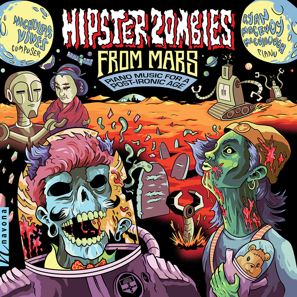 Nicholas Vines - HIPSTER ZOMBIES FROM MARS - Album Cover