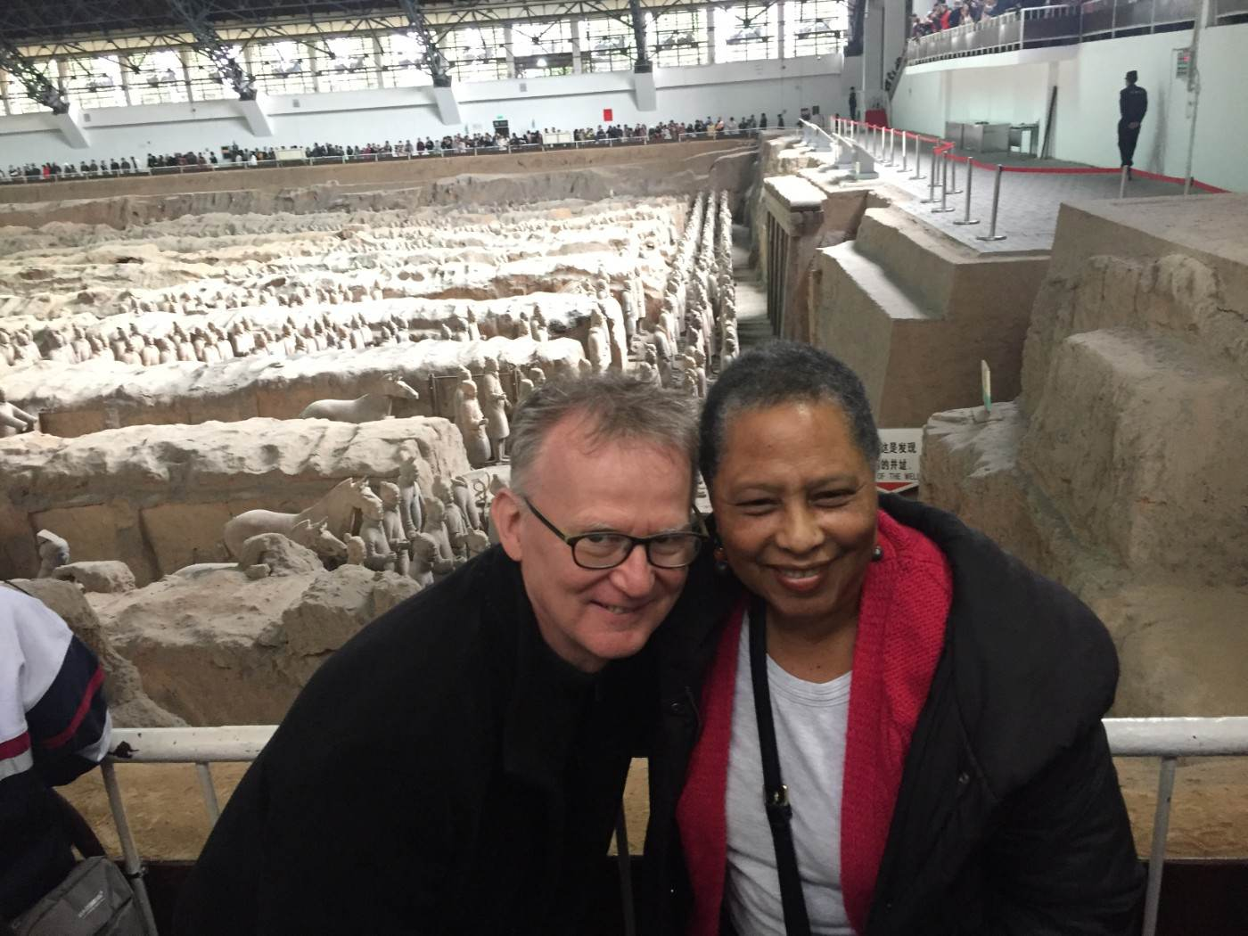 Eleanor and Tom visiting the Terracotta Army