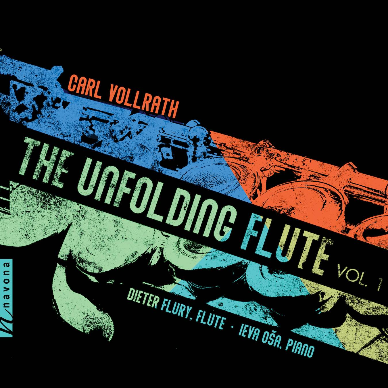 The Unfolding Flute- Carl Vollrath- Album Cover