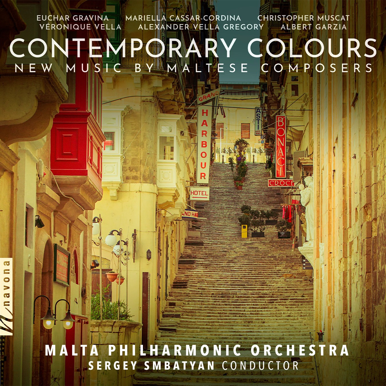 CONTEMPORARY COLOURS - Malta Philharmonic Orchestra - Album Cover