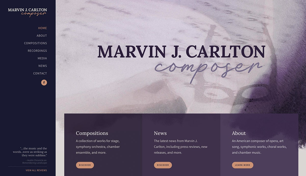 Marvin J. Carlton website