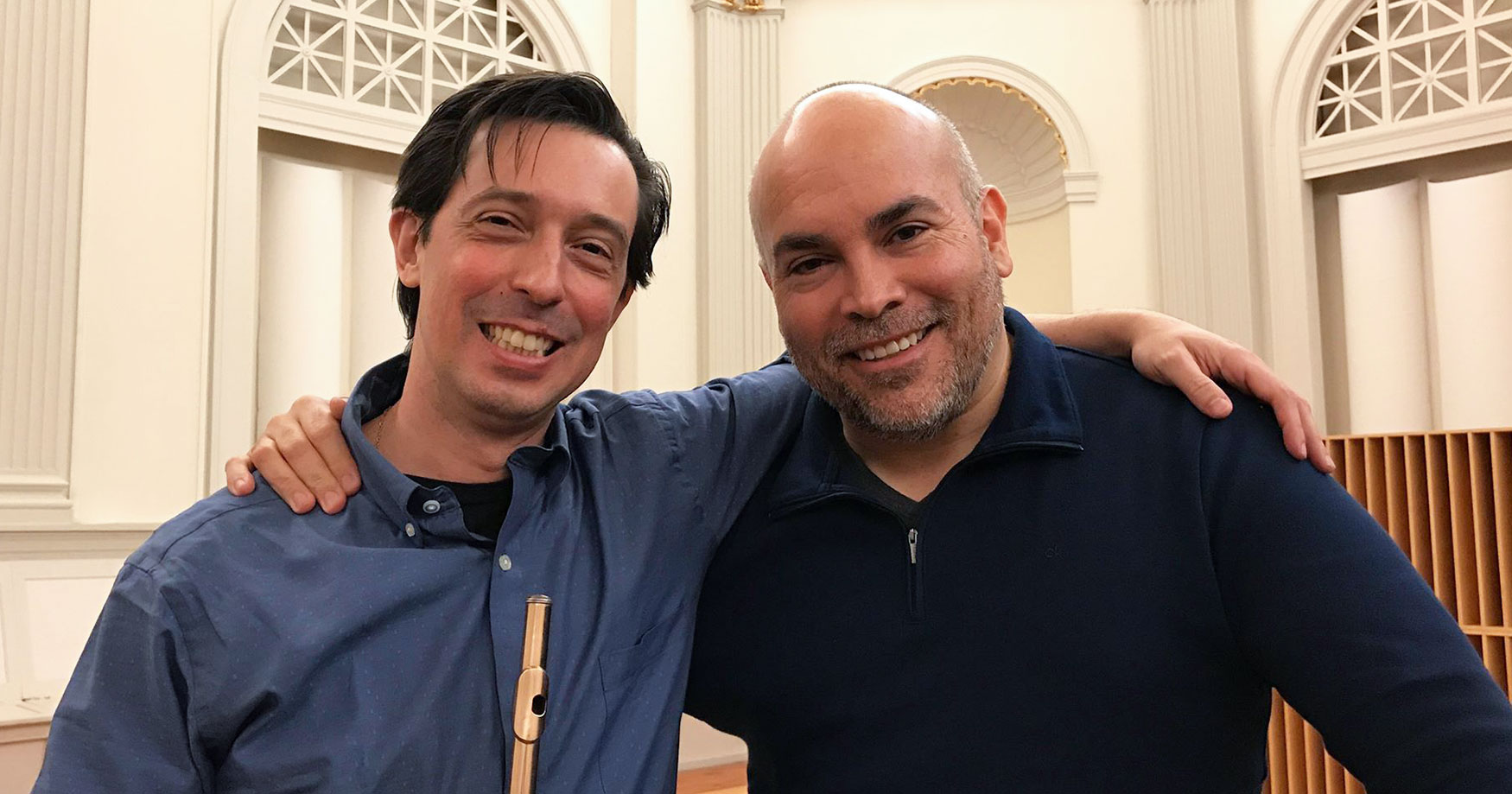 Orlando Cela and José Elizondo